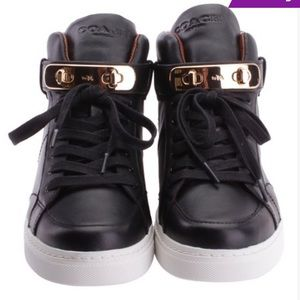 Coach Richmond Swagger Napa Black Leather Sneakers